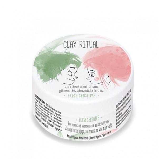 Clay Ritual glinena deodorantska krema Fresh Sensitive
