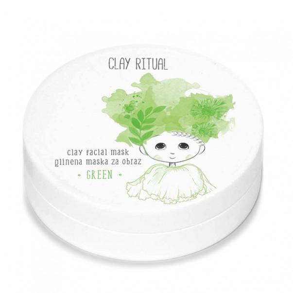 Clay Ritual glinena maska za obraz GREEN