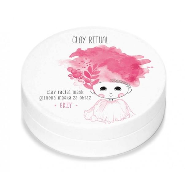 Clay Ritual glinena maska za obraz GREY