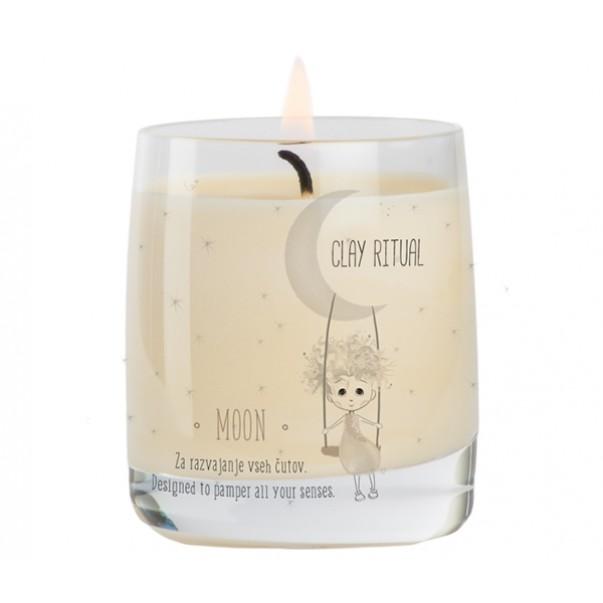 Glinena masažna svečka MOON