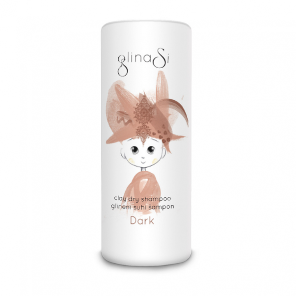 GlinaSi Glineni suhi šampon Dark