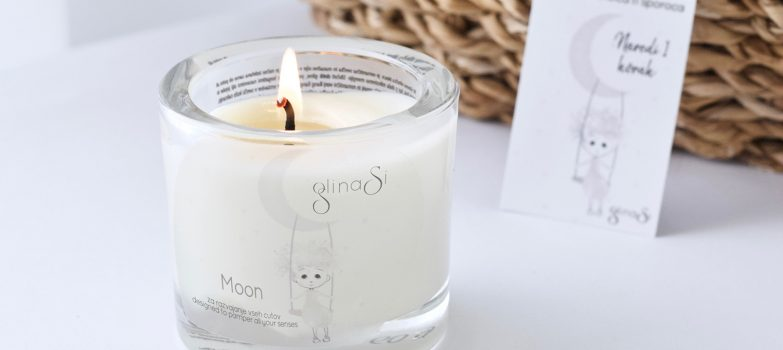Glinena masažna svečka, izdelana le ob luni ♥